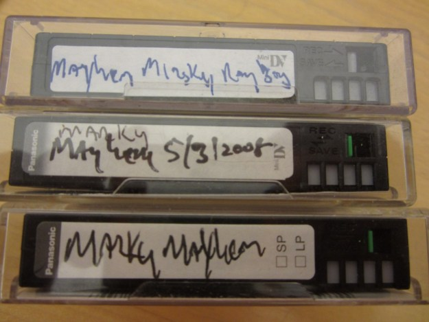 Marky Mayhem mini dv tapes