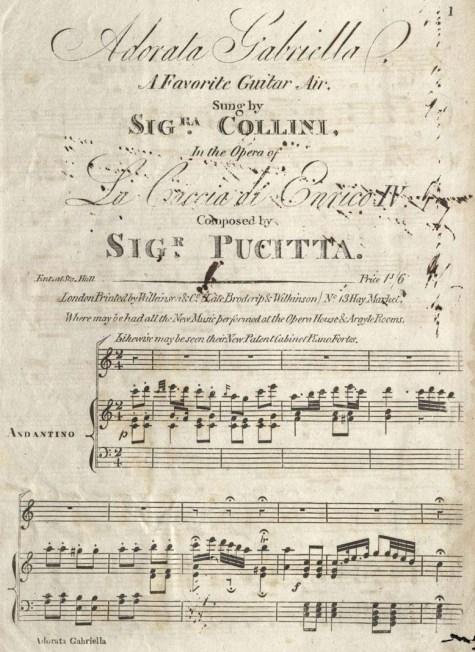 Pucitta, Vincenzo. Adorata Gabriella, 1809. M1508.P974 C3 1809