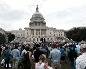 Participants gather June 19 on the lawn of the U.S. Capitol Building in Washington for the March for Marriage — in defense of traditional marriage between one man and one woman. (LCMS/Pamela Nielsen)