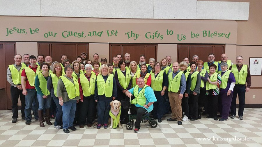 A new class of LERT volunteers from Trinity Lutheran Church in Toledo, OH/Michael Meyer