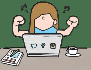 Angry social media user