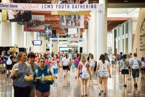 The New Orleans Ernest N. Morial Convention Center handles a lot of foot traffic during the Youth Gathering. (LCMS/Erik M. Lunsford)