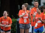 Young Adult Volunteers cheer on participants in the July 17 5K run/walk at the 2016 LCMS Youth Gathering in New Orleans. (LCMS/Erik M. Lunsford)