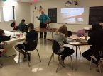 The Rev. Peter Schmidt, pastor of Beautiful Savior Lutheran Church in Waukesha, Wis., teaches a class at the congregation's school. Schmidt is this year's recipient of the NLSA School Shepherd Award. (Photo: Jennifer Wolff)
