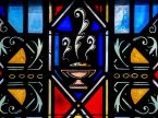 Stained glass depicts Communion at Luther Memorial Chapel on Friday, Jan. 29, 2016, in Shorewood, Wis. (LCMS/Erik M. Lunsford)