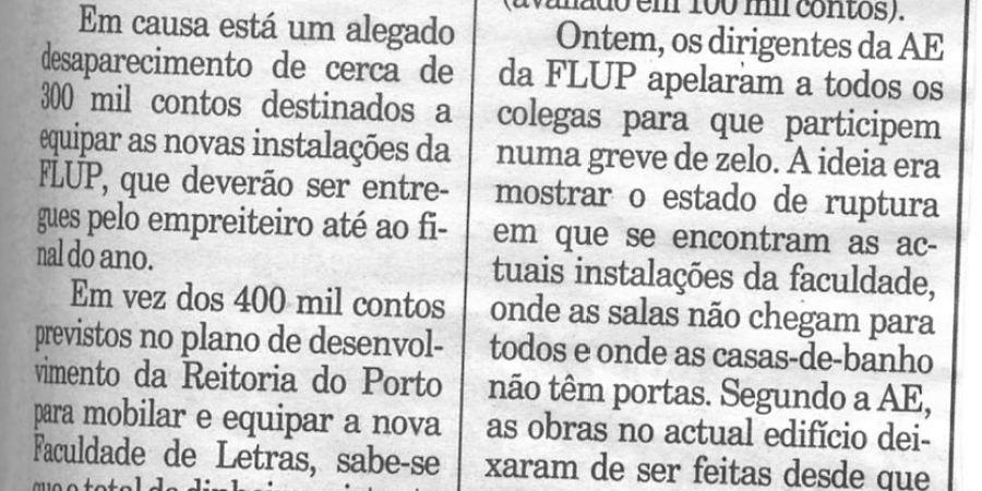 """(423) """"Letras do Porto em greve"""" - 1994 11 11 Publico ...-150r"""