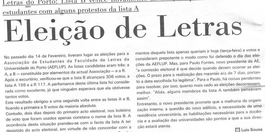 """(413) """"Eleição de Letras"""" - 1995 02 21 ForumEstudante ...-160r"""