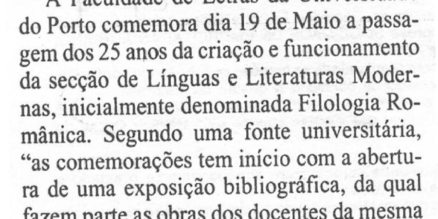 """(410) """"Faculdade de Letras do Porto comemora aniversário"""" - 1995 04 29 1ºJaneiro ...-60r"""