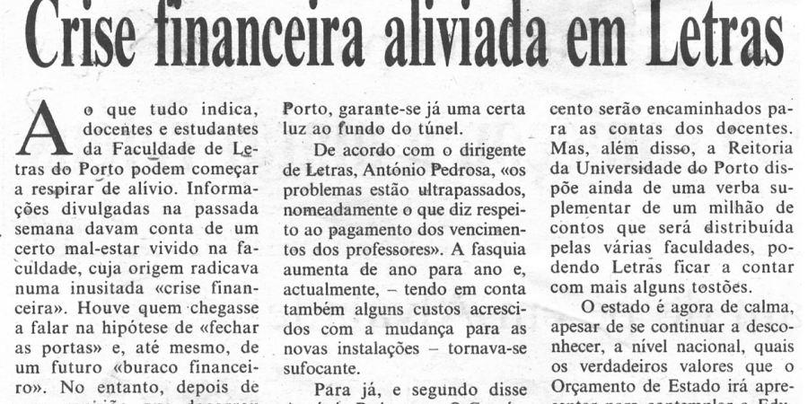 """(364) """"Crise financeira aliviada em Letras"""" - 1996 01 10 CPorto ...-130r"""