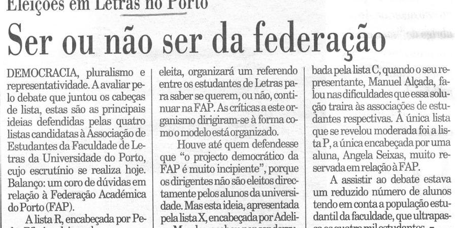 """(353) """"Ser ou não ser da federação"""" - 1996 02 08 Publico ...-100r"""