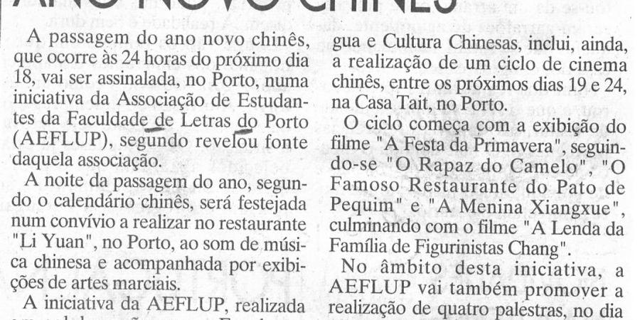 """(349) """"Ano Novo Chinês"""" - 1996 02 12 JNoticias ...-90r"""