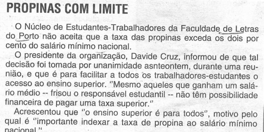 """(319) """"Propinas com limite"""" - 1996 06 05 CManha ...-40r"""