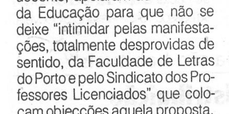 """(283) """"Escola de Educação do Algarve critica Letras do Porto"""" - 1996 10 22 ODia ...-70r"""