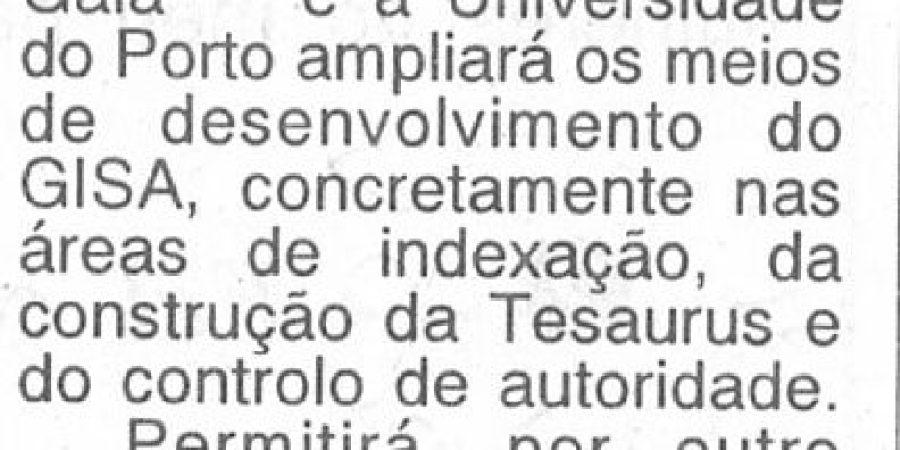 """(266) """"Porto e Gaia cooperam nos Arquivos"""" - 1997 05 15 AOrdem ...-50r"""