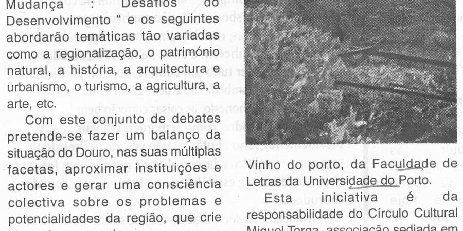 """(197) """"O Douro em debate no virar do século"""" - 1998 10 09 NoticiasDouro ...-250r"""