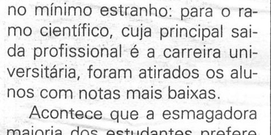 """(194) """"Cientistas das Letras mas à força"""" - 1998 10 21 JNoticias ...80r"""