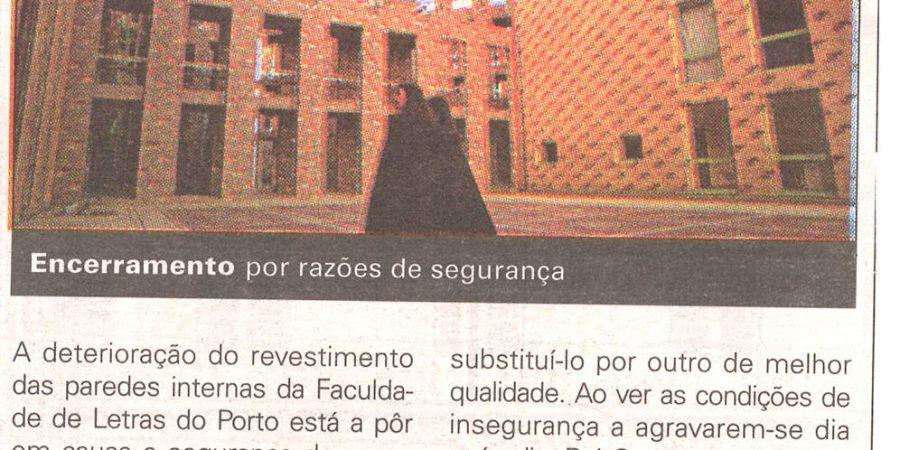"""(131) """"Faculdade de Letras suspende as aulas"""" - 1999 12 14 JNoticias ...-210r"""