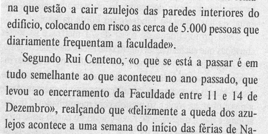 """(126) """"Férias forçadas nas Letras do Porto"""" - 1999 12 15 DEconomico ...-100r"""