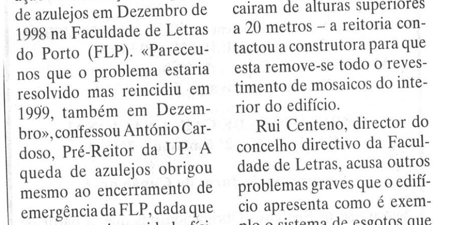 """(118) """"Reitoria assume erros nas obras"""" - 2000 01 10 DEconomico ...-190r"""