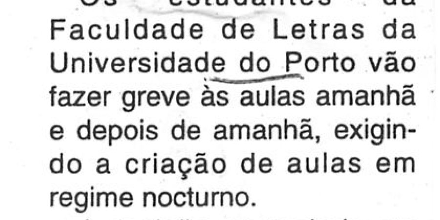 """(113) """"Greve às aulas na Universidade do Porto"""" - 2000 02 28 CManha 17-30r"""