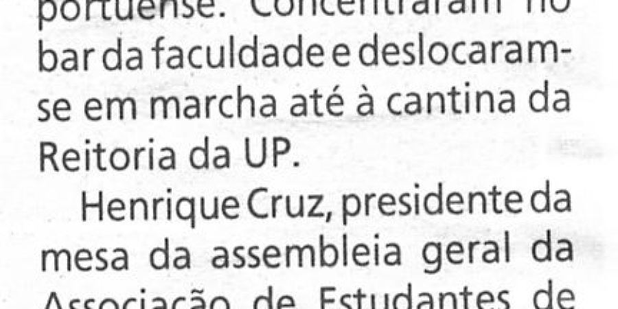 """(94) """"Estudantes trabalhadores de Letras em protesto"""" - 2000 03 03 1ºJaneiro 32-60r"""