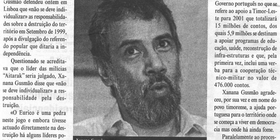 """(57) """"Universidade do Porto distingue líderes timorenses"""" - 2000 10 31 DMinho 14-310r"""