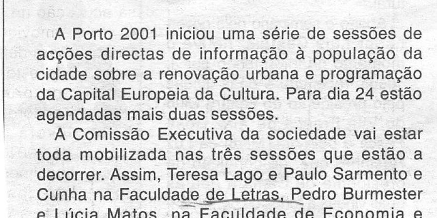 """(35) """"Sessões Porto 2001"""" - 2000 11 18 CManha 36-40r"""