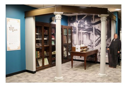 A Look Back Exhibit in Purdue Libraries' HSSE Library, Fall 2018