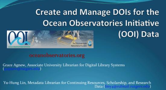 An Ocean of Data presentation image