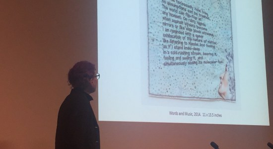 China Marks presents at the 23rd annual Book Arts Symposium at Alexander Library. Credit: Michael Joseph.