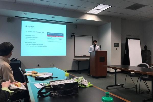 Librarian leading workshop