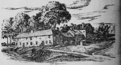 Image of the Perth Amboy Barracks in July 14, 1904 Perth Amboy Evening News.