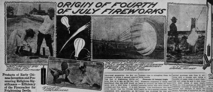 Article about fireworks' history and creation.