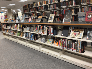 Image of UNT Libraries graphic novels collection, Willis Library, 3rd floor