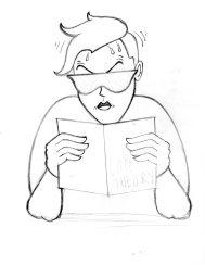 Comics Studies logo, second concept sketch