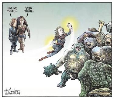 Cartoon by Michael de Adder