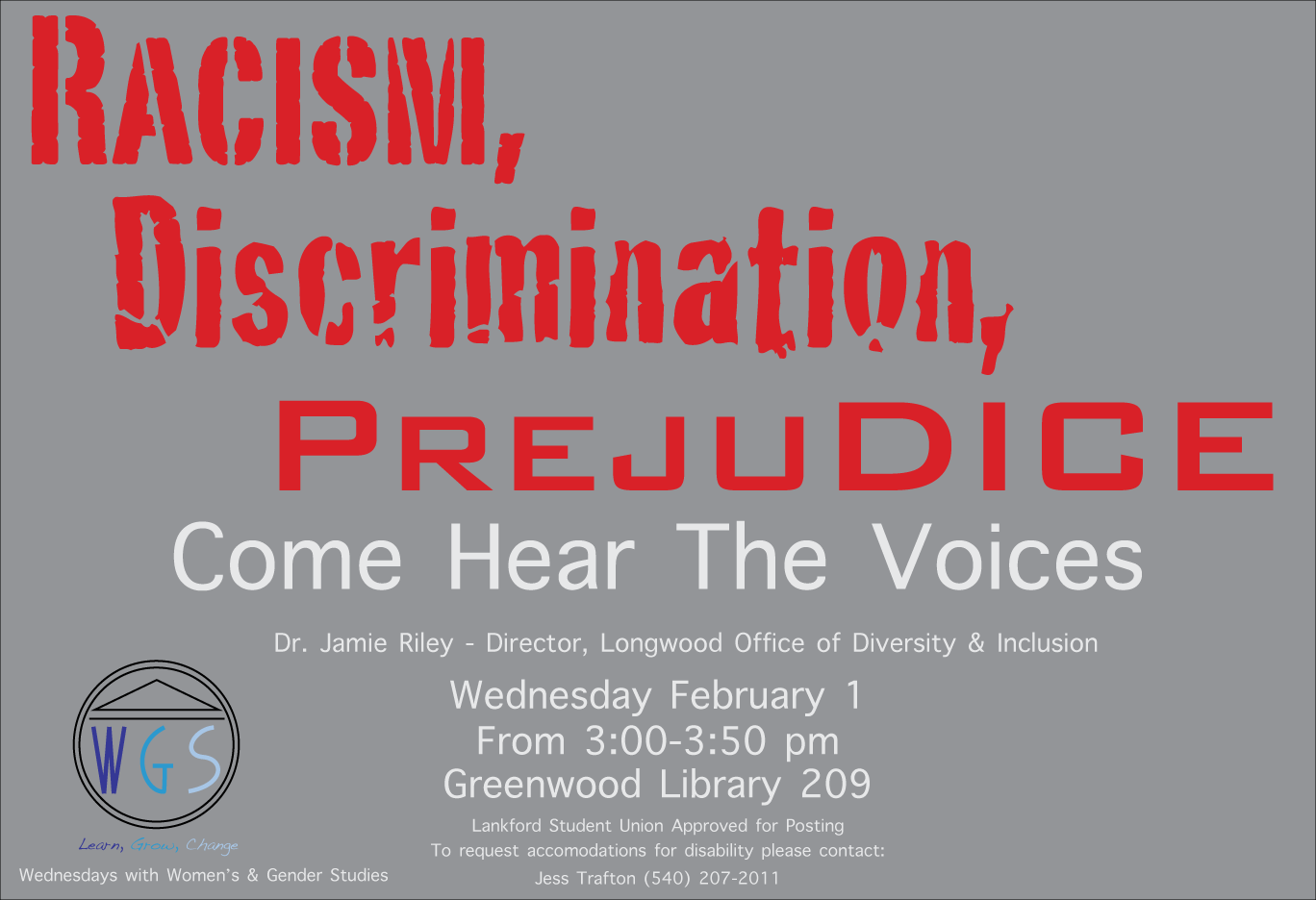 Dr Jamie Riley To Speak About Racism Discrimination And