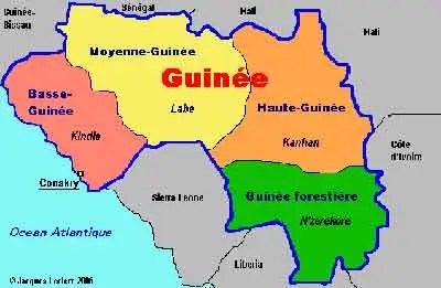 Guinea's four administrative regions reflect the ethnic divisions in the country
