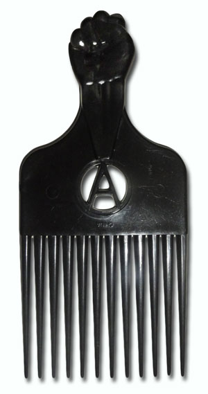 The politicised Black Power salute comb