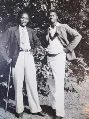Kenyatta, looking dapper with a cane, in Russell Square during his time in London