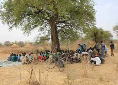 A reconciliation conference could take place in the setting of the above typical court in South Sudan especially if a more local form of justice was used