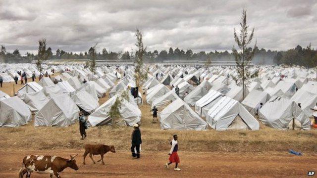 An IDP camp in Kenya Photo: AP