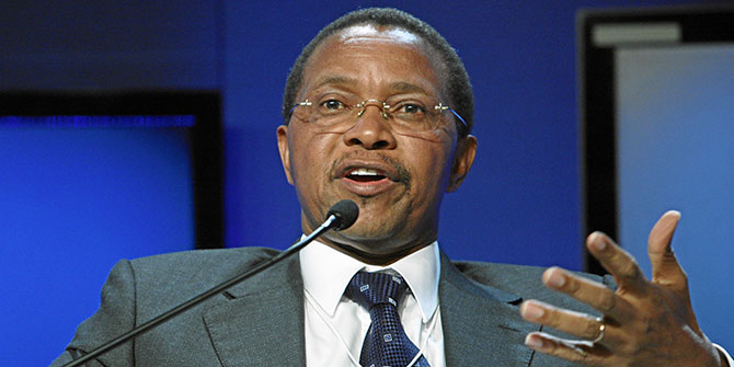 Jakaya Kikwete will step down as President of Tanzania in October 2015 Photo: WEF via Flickr (http://bit.ly/1KpjIy4) (CC BY-NC-SA 2.0)