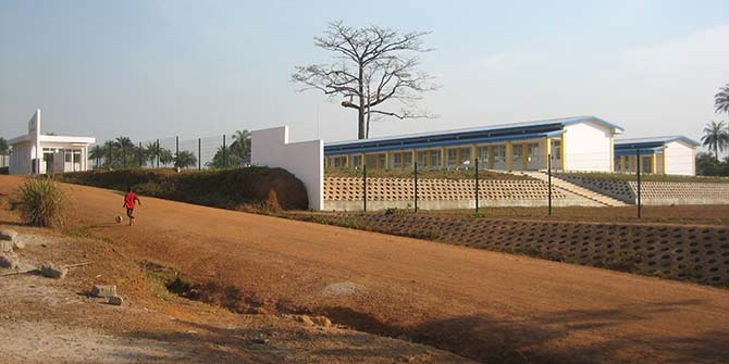 The Chinese-built school in the rural village of Yoni in Sierra Leone Credit: Why Nations Fail blog