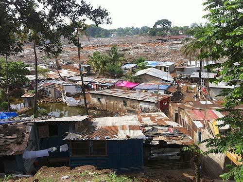 King Tom hosts one of Freetown's dump sites Credit: Saskia Marijnissen, UNDP 2013
