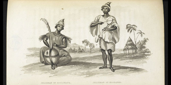 This photo is from the book, Travels in the Timannee, Kooranko, and Soolima by Alexander Gordon Laing describing the time spent in an area of West Africa that includes present-day Sierra Leone.