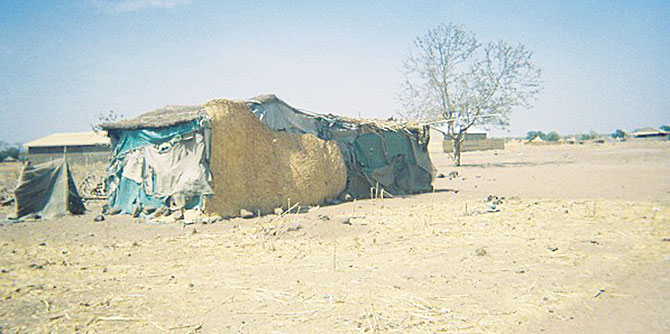 A house in a neighbourhood of recent returnees (Wau, South Sudan, April 2012).