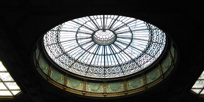 The glass dome at Edinburgh Waverley station was symbolic of the glass ceiling of the colonised academy