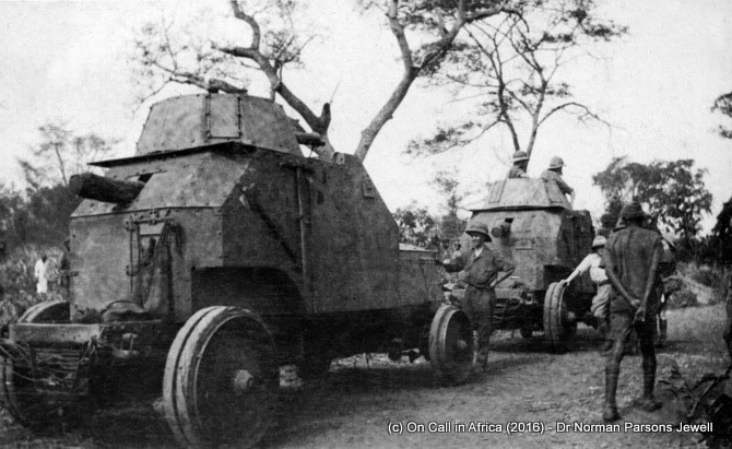 Armoured cars on route to Handeni
