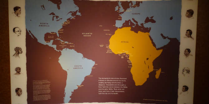 Transatlantic Slave Trade Map Photo Credit: Nick Normal via Flickr (http://bit.ly/2bvgopM) CC BY-NC-ND 2.0